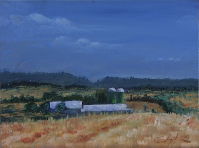 Westcoast silos - oil painting by Stephen Scott - Cape Town, South Africa