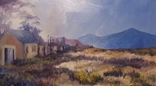 Late afternoon at Matroosberg - oil painting by Stephen Scott
