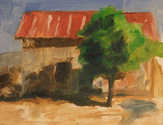 stephen scott - farmhouse painting - tonal study