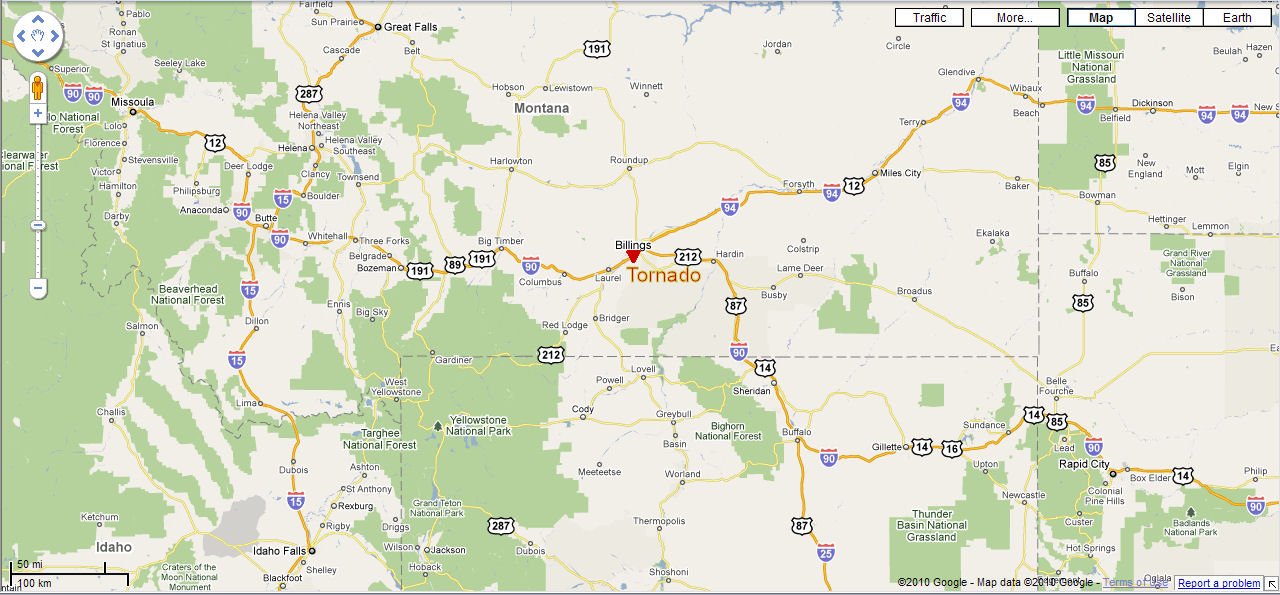Billings Montana Map Submited Images