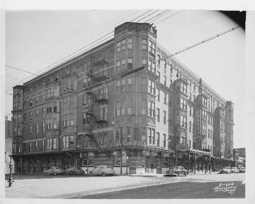 The Coates House Hotel In 1950 Section That Burned Morning Of January 28 1978 Is To Right Side This Photo Courtesy Kansas City Mo