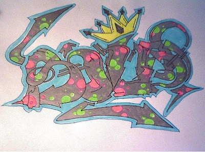 graffiti sketch, graffiti tag