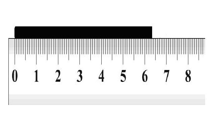 Skala terkecil mistar, yaitu jarak antara dua goresan yang berdekatan