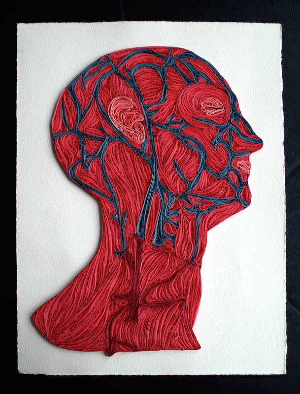 Quilling - Vene della testa