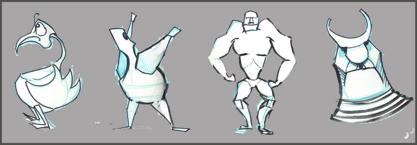 Character Design Shape Theory : Yolantele character design lecture shapes in