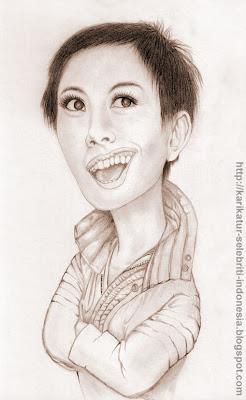 Agnes Monica - Karikatur Selebriti Indonesia