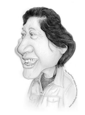 WS Rendra - Karikatur Selebriti Indonesia