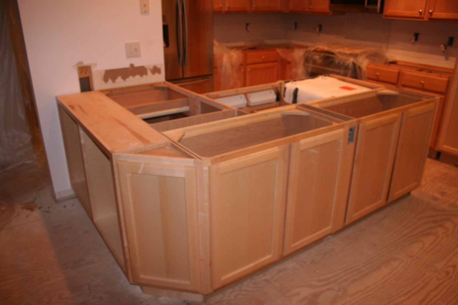 Kitchen Island From Cabinets