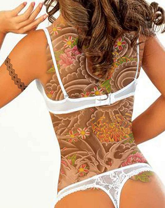 Hawaiian Flower Vine Tattoos for Women