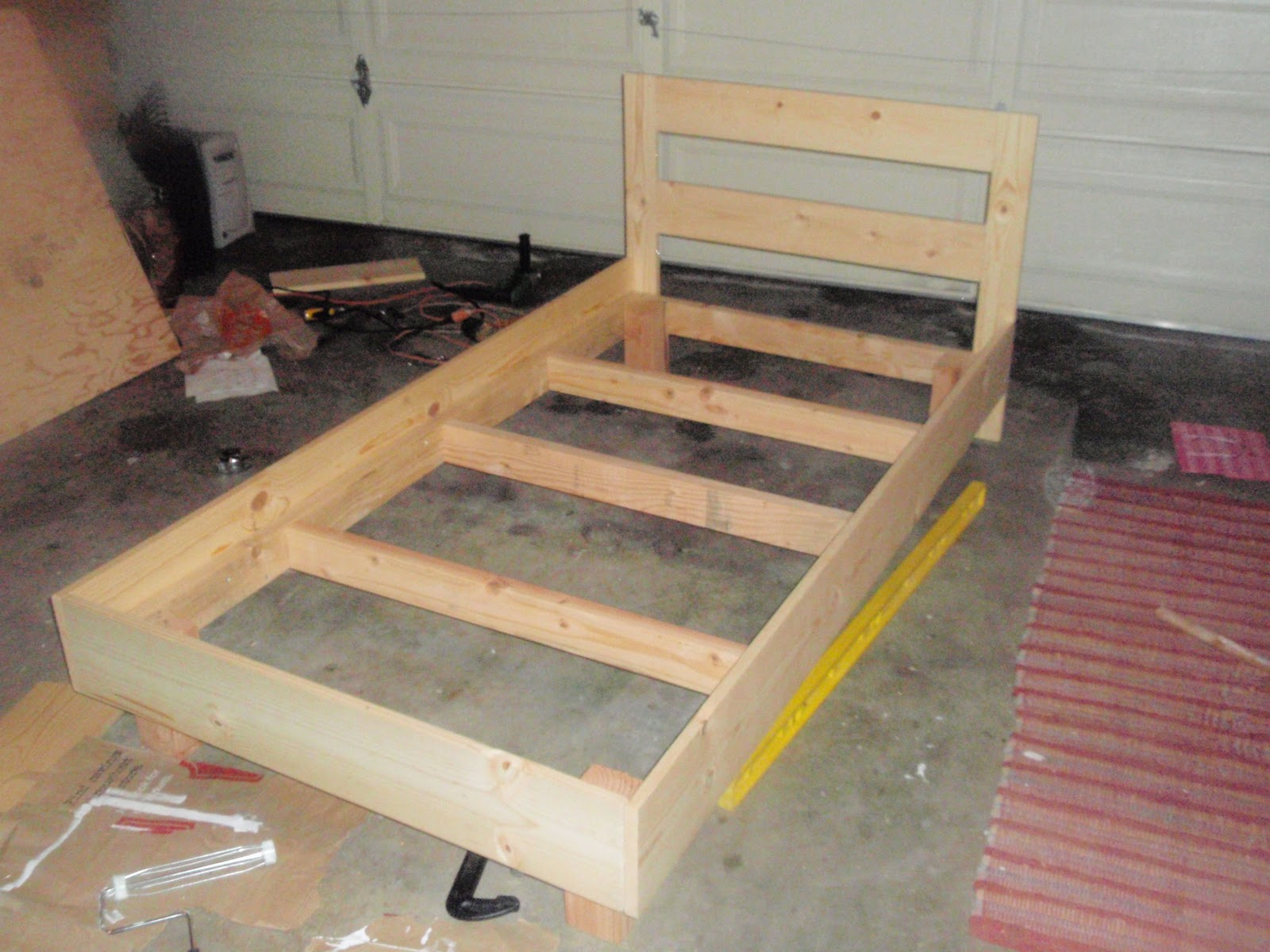 Of some use building a pine twin bed 2 twin beds make a queen