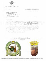 Carta del Real Betis