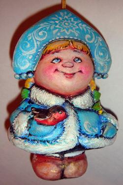 Снегурочка папье маше своими руками