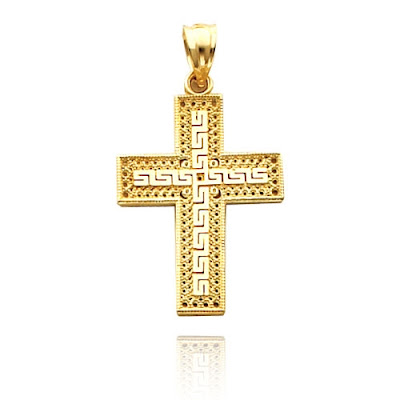 Gold Greek Cross Pendant