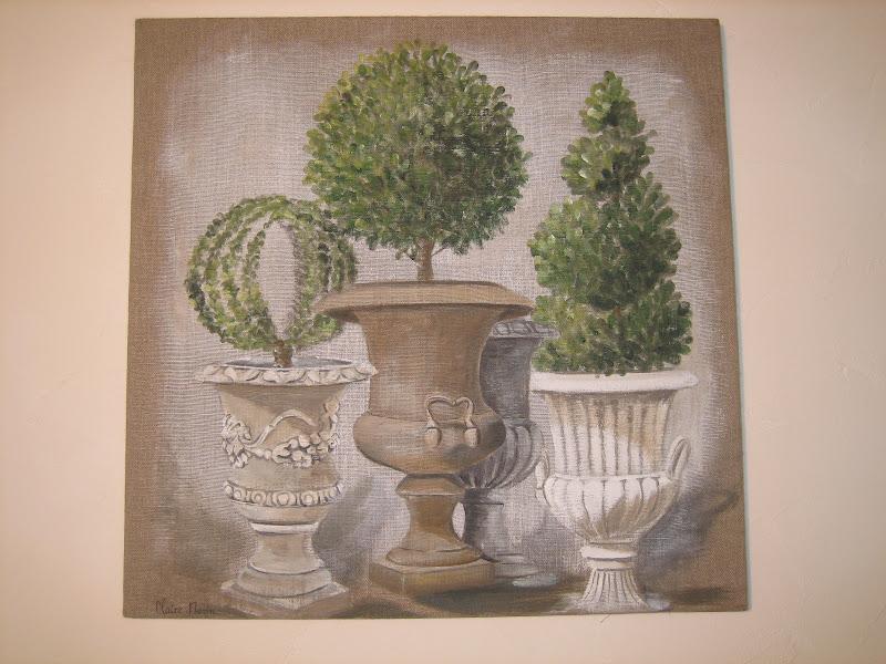 lin toiles de lin l 39 atelier de kerguelion vases buis. Black Bedroom Furniture Sets. Home Design Ideas
