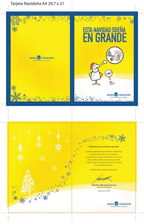 Rodas tarjeta de navidad banco financiero for Oficinas de banco financiero