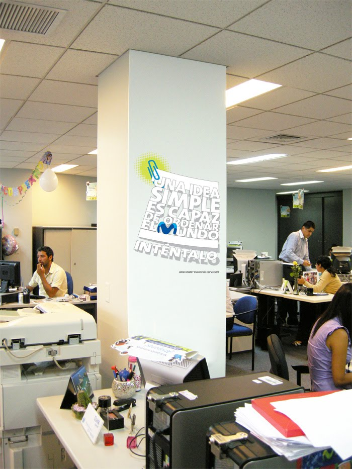 Rodas decoraci n oficinas movistar piso 6 y 7 2 for Oficinas movistar