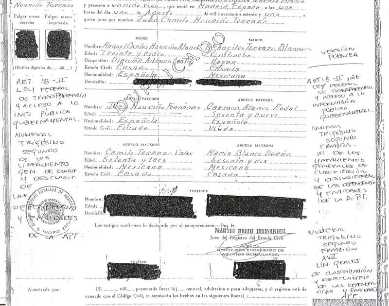 Lujoso Acta De Nacimiento Tambaram Ilustración - Cómo conseguir mi ...
