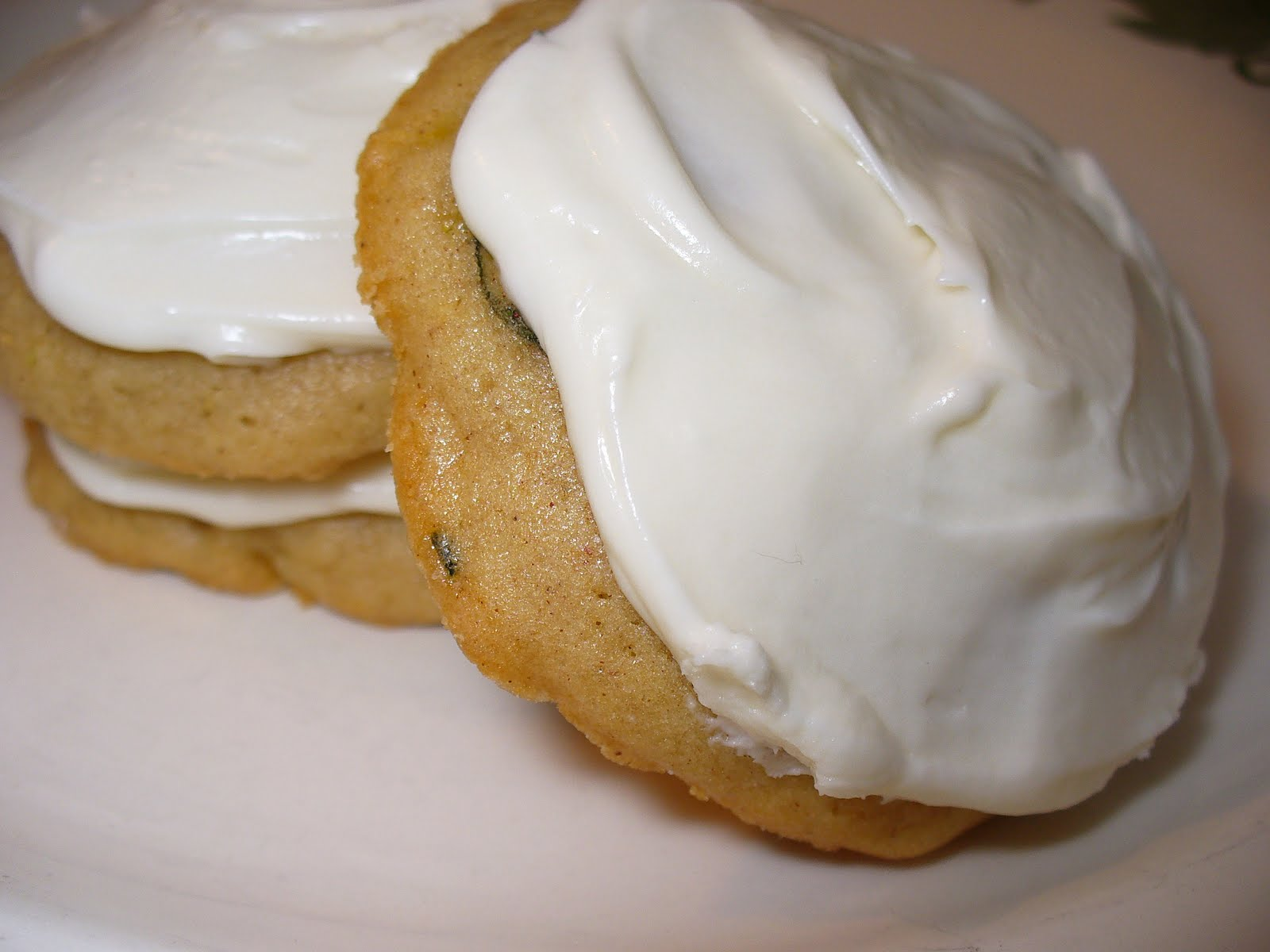 Zucchini Cookies With Cream Cheese Frosting:
