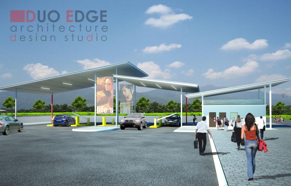 duo edge architecture design studio pedestrian walkway