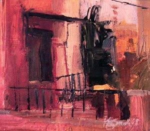 Pink Balcony by Kathi Smith
