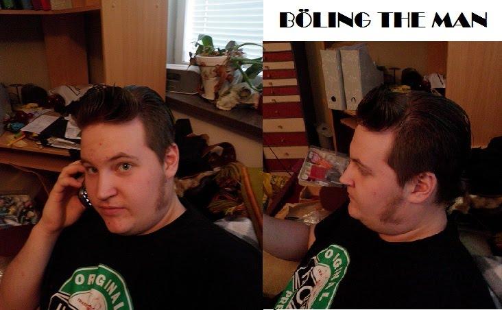 min bror och jag frisör