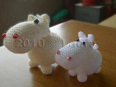 Ippopotamo Amigurumi Crochet : Laura fa: Ippopotamo amigurumi