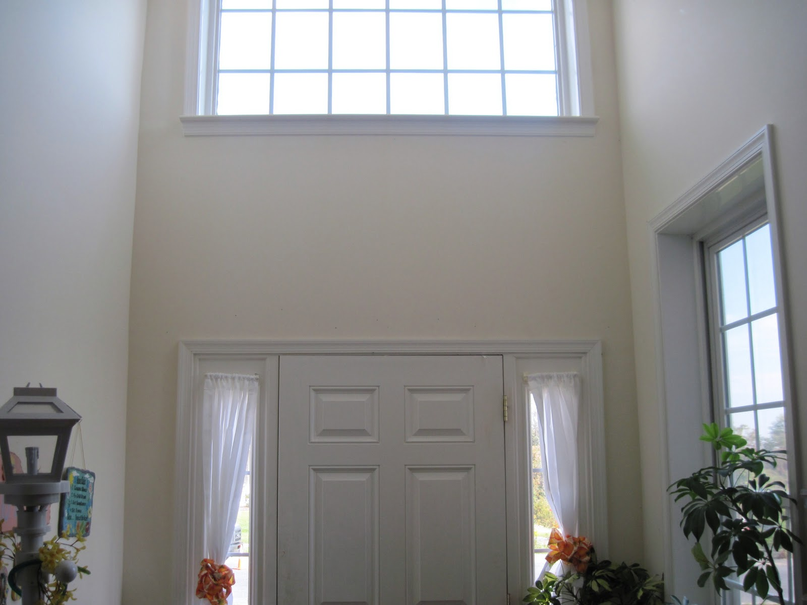 Cost Of Painting Two Story Foyer : Shamble ramble diy a built in two story foyer