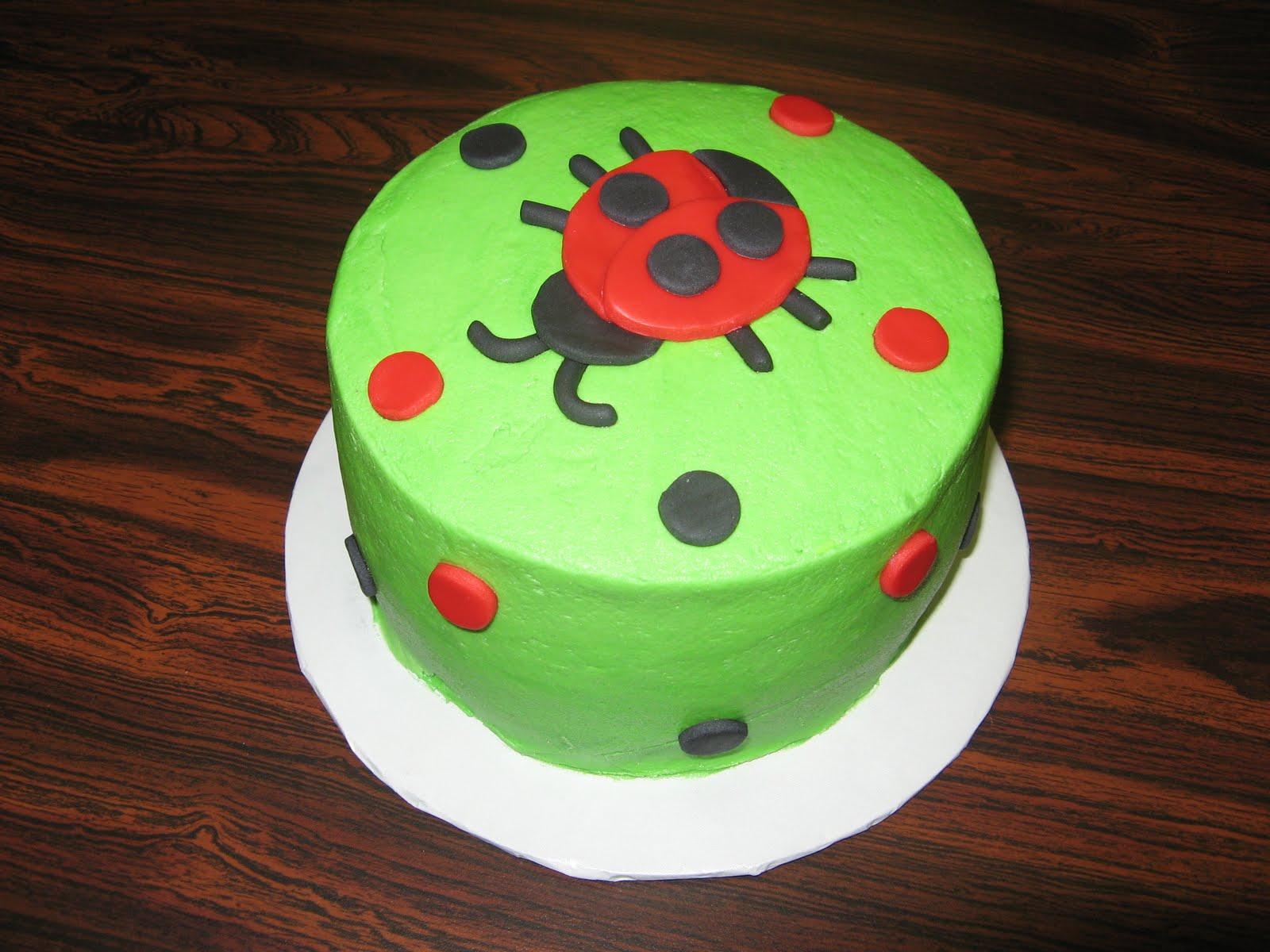 Fondant Decor On Buttercream Cake : Tasty Creations: Happy Birthday Everyone!