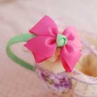 pink pokka dot hairband -- HA146-RM16.00 per piece