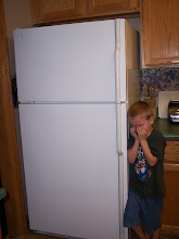 "Joseph having to say ""goodbye"" to the old fridge back in Feb."