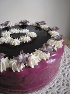 ... Cake: Spiced Bramley Apple Cake with Blackberry Cream Cheese Frosting