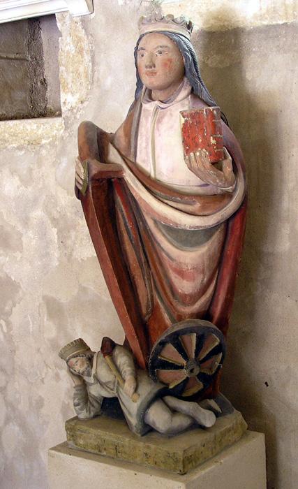 ALLAMPS (54) - Eglise paroissiale Saint-Pierre et Saint-Paul - Sainte-Catherine d'Alexandrie
