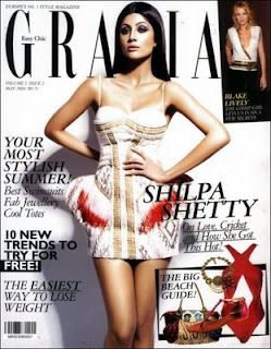 Shilpa Shetty Hot On Grazia Magazine Cover Image