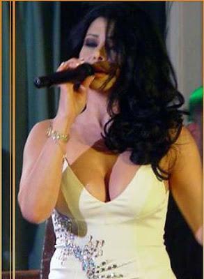 Hot singer Haifa performing in Arab show