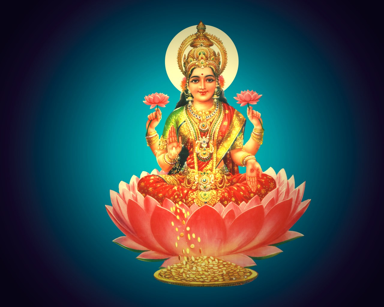 Nice lakshmi devi devotional wallpapers