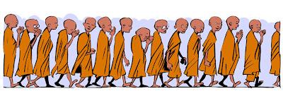 moines bouddhistes