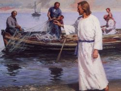 Jesús junto al mar de Galilea