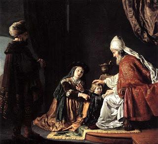 Representación del profeta Samuel, como el último de los Jueces del Antiguo Testamento