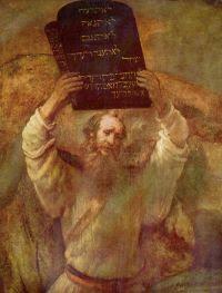 Moises con los Diez Mandamientos. Rembrandt (1659)