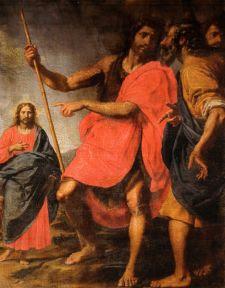 San Juan Bautista muestra al Cristo a San Andrés. Ottavio Vannini. Siglo XVII