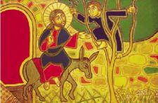 Zaqueo subido al árbol, llamado por Jesús