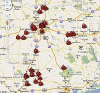 Map: Texas BBQ Posse Favorites