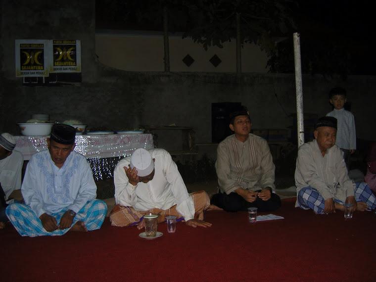 Sosialisasi Caleg sekaligus Tahlilan bersama Warga RT 04 RW 04 Pejuang-Medan Satria