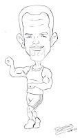 Caricatura Fabio, instrutor da academia