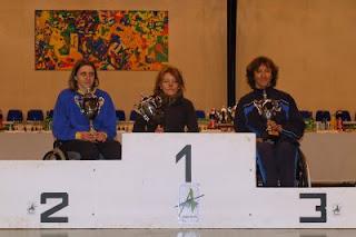 Podiom d'Argentan avec Valérie Gay(2ème), Stef Mariage(1ère)et Isabelle
