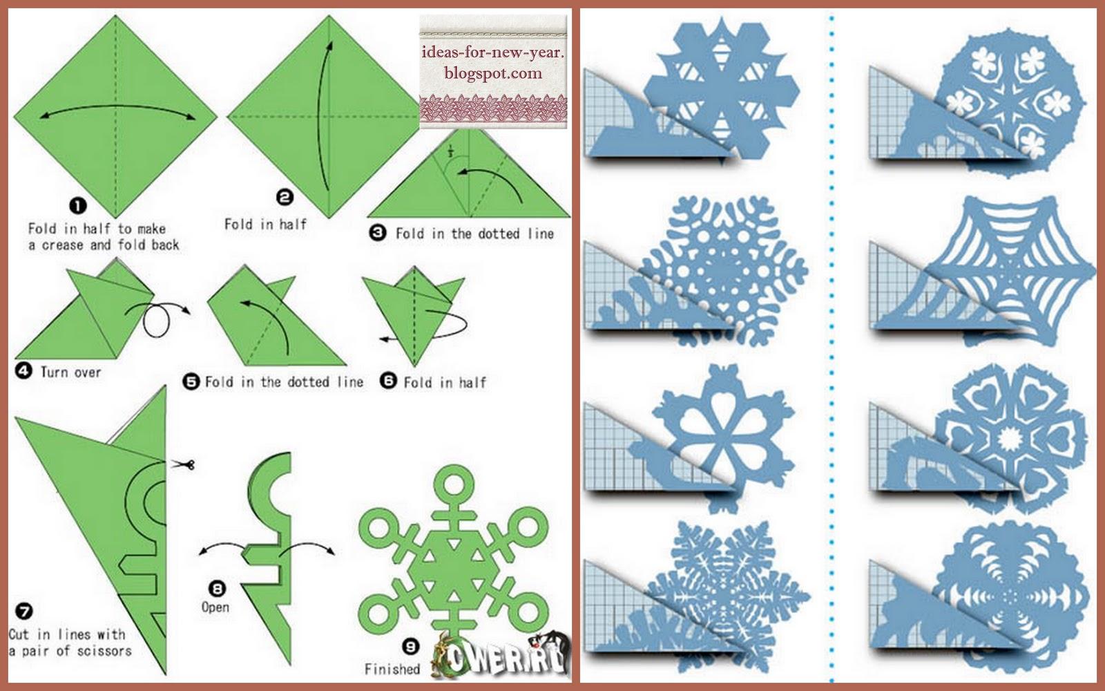 Объемные снежинки из бумаги своими руками схемы шаблоны