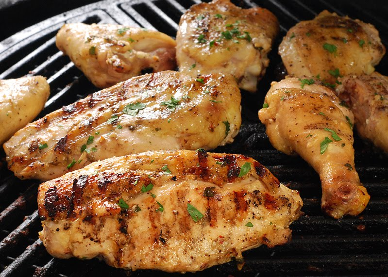 Cook until the breasts hit an internal temp of 160f and the thighs hit ...