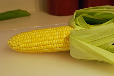 how to cut corn into pieces