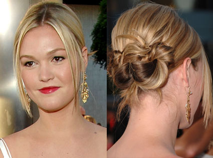 One Ponytail Up-Do Hairstyle: Wedding Hairstyle. Views: 24622