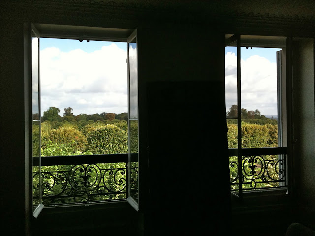 Trish Deseine's flat overlooking the rustling trees of the park, st germain